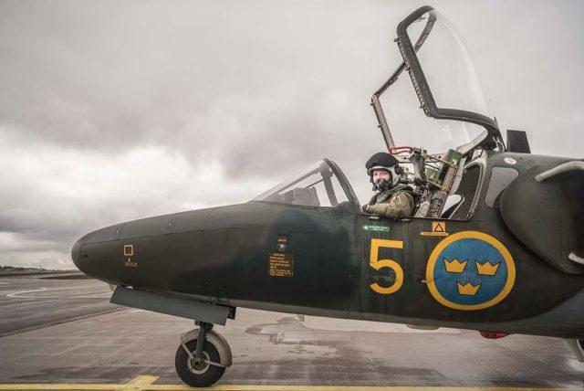 Swedish Air Force SK 60 trainer aircraft