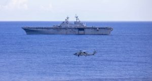 USS Wasp taking part in exercise Black Widow 2020
