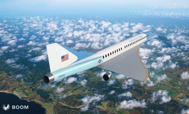 Overture supersonic aircraft with Air Force One livery