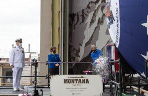 USS Montana christening
