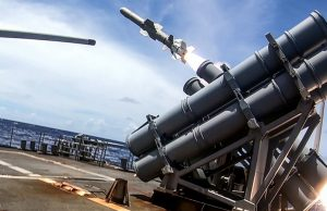 Harpoon missile targeting ex-USS Curts