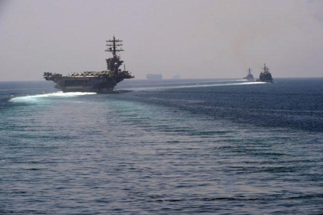 USS Nimitz in Persian Gulf