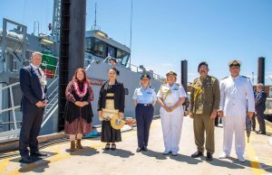 Guardian-class patrol boat delivery ceremony