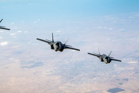US Israeli F-35 aircraft together