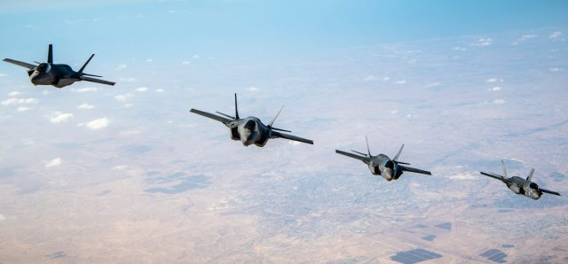 US Israeli F-35 aircraft together