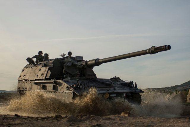 Italian PzH2000M self-propelled howitzer