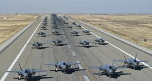 F-35 elephant walk at Hill Air Force Base