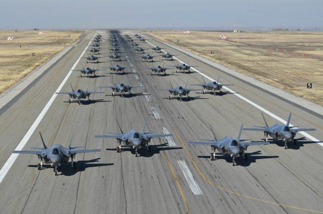F-35 elephant walk at Hill Air Force Base