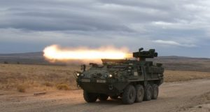 Upgraded ATGM Stryker during networked lethality testing