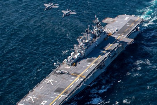USS America with JASDF F-35As