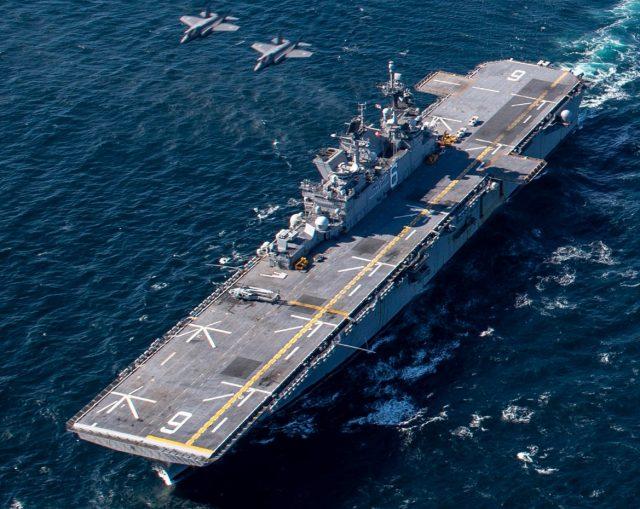 USS America with JASDF F-35As