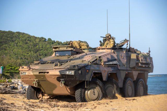 Australian Boxer CRV during beach trials