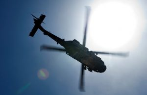 A Blackhawk over Afghanistan