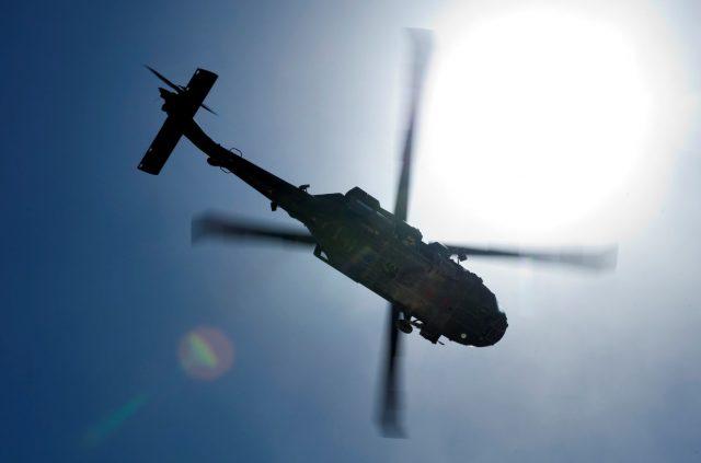 A Blackhawk over Afghanistan
