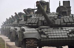 Serbian T-72B1MS tanks