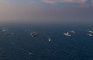 Exercise Malabar aircraft carriers