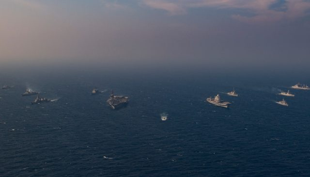 Exercise Malabar aircraft carriers