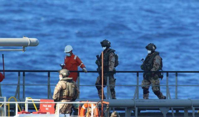 Arms embargo boarding team