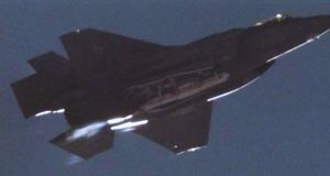 F-35A releasing the B61-12 nuclear guided bomb from its internal bomb bay