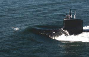 Virginia-class submarine with dolphin
