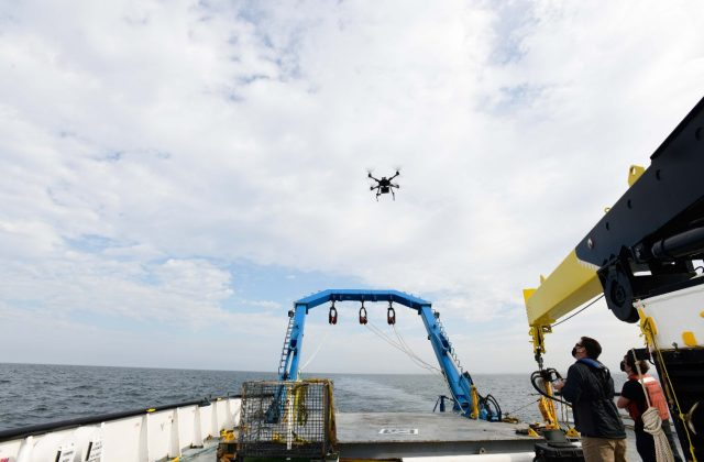 Quadcopter drone for laser weapon testing