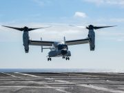 CMV-22B Osprey on USS Carl Vinson