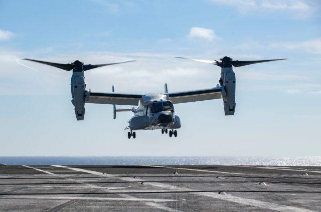 CMV-22B Osprey on USS Carl Vinson