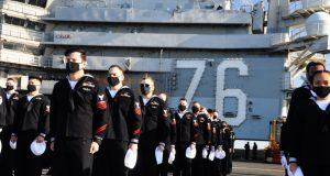 USS Ronald Reagan (CVN 76) returning to Yokosuka
