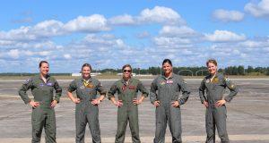 Anti-gravity suit for female pilots