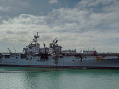 USS Bonhomme Richard after fire