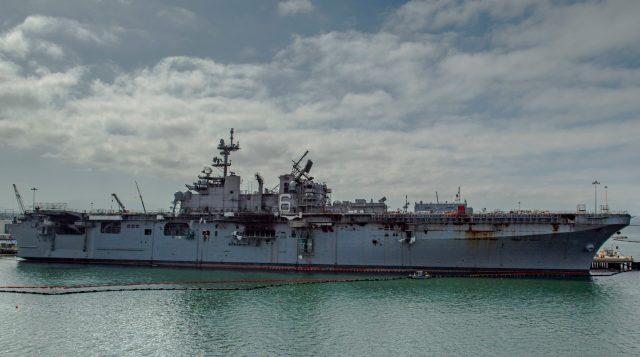 USS Bonhomme Richard after fire