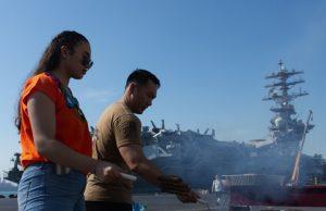 USS Nimitz in Bahrain