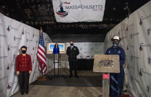 Massachusetts (SSN 798) keel laying ceremony