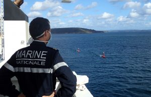 Drix USV during hydrographic operations trials