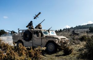 MMP missile firing from a French special forces Sabre vehicle