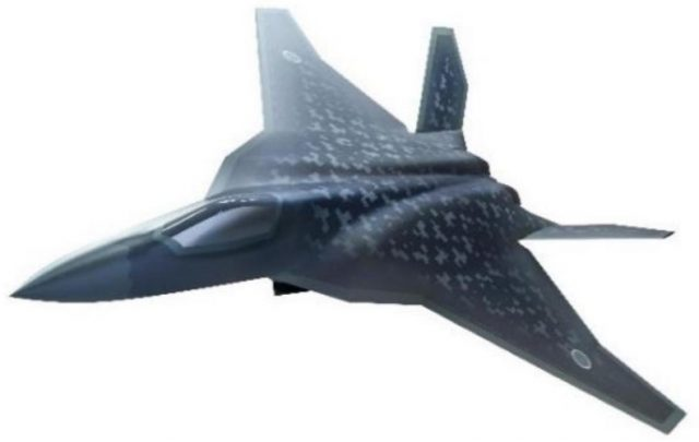 Artist's impression of the Japanese F-X fighter