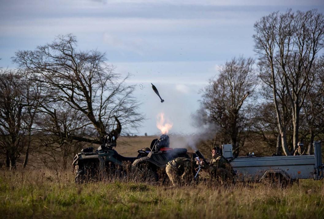 Royal Marines trial all-terrain vehicles in mortar maneuver drill - Defense  Brief