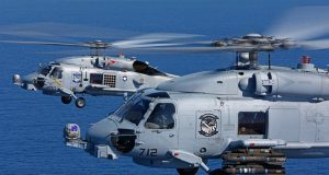 US Navy MH-60R helicopters