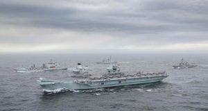 HMS Queen Elizabeth underway during Joint Warrior 2020