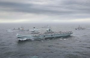 HMS Queen Elizabeth underway during Joint Warrior 2020