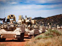 US Army Bradley vehicles