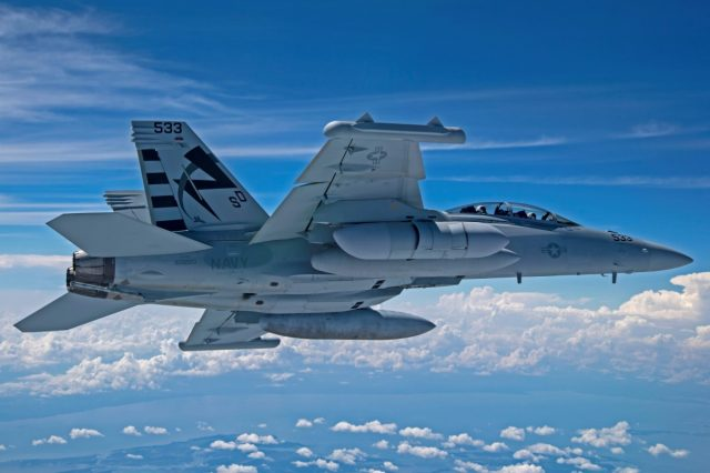 NGJ-MB on an EA-18G Growler