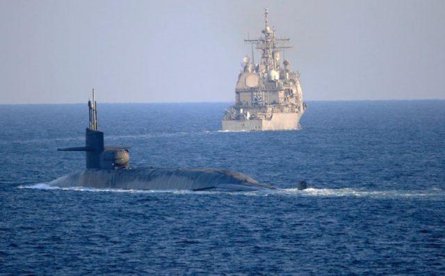 US Navy submarine operations in Persian Gulf