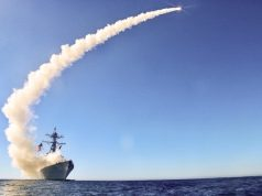 USS Chafee (DDG 90) launches a Block V Tomahawk