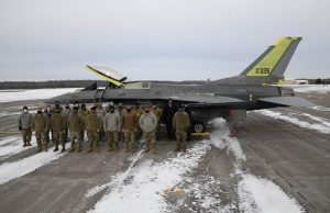 The third and final F16, aircraft 339, completed repairs this month