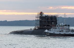 FS Le Terrible arrives in Brest for dry dock overhaulfor