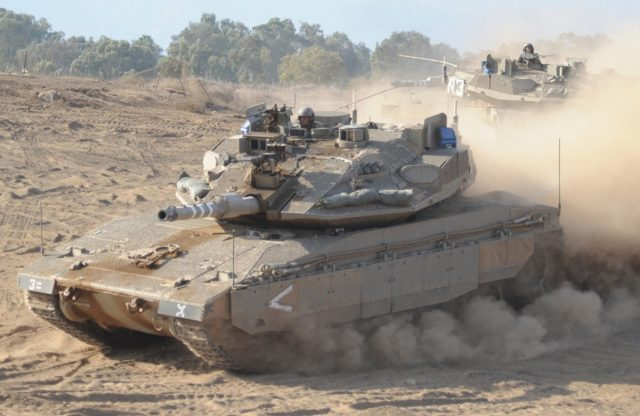 Merkava MBT with the Trophy APS
