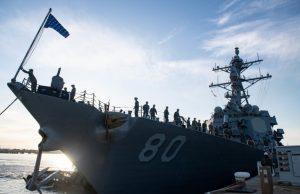 USS Roosevelt at NS Rota, Spain