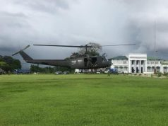 Philippine Air Force Huey helicopter