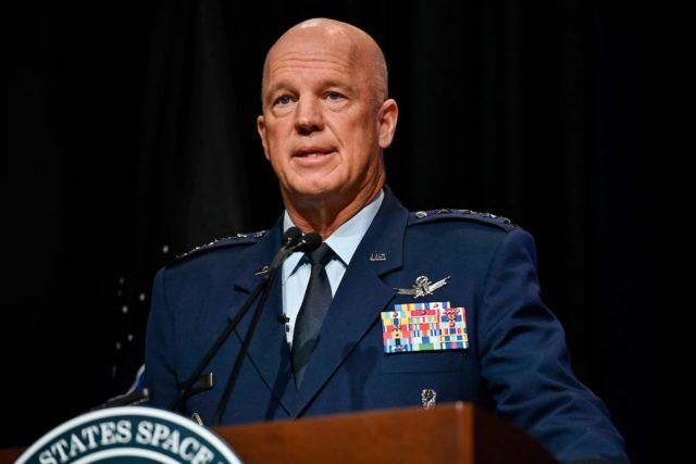 US chief of space operations Gen. John W. Raymond